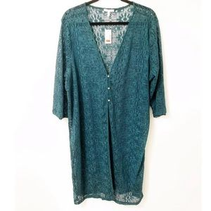 Maurices | Green Lace Cardigan NWT